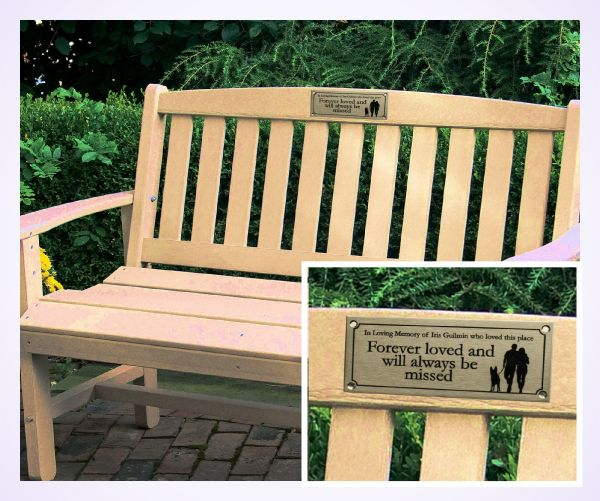 Stainless Steel Memorial Bench Plaque Brunel Engraving