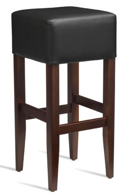 Chester High Stool Black Leather