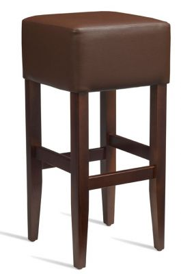 Chester High Stool Dark Brown Leather