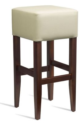 Chester High Stool Cream Leather