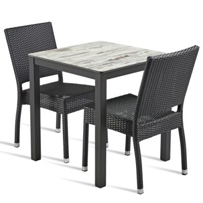 Two Person Weave Dining Set Londi Comfort Cafe Reality
