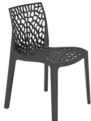 Lattice Chair In Anthracite Front Angle
