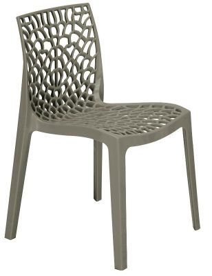 Lattice Chair In Pearl Grey Front View