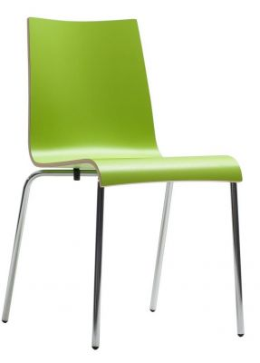 Rio Designer Laminate Chair In Lime Green