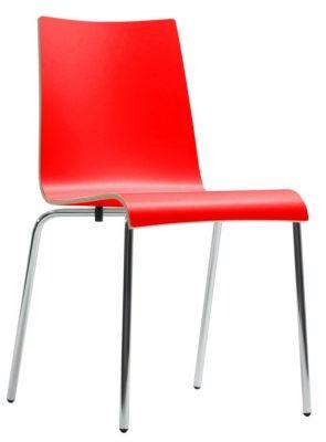 Rio Designer Laminate Chair In Red
