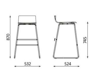 Piazza 7 bar stool