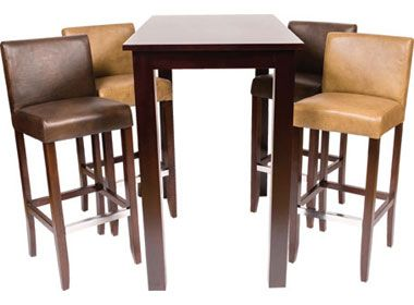 Bar stools wooden poseur table set wetherby cafe reality for 12 bar blues table