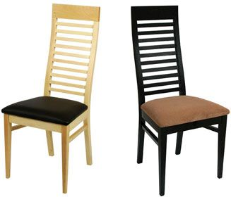 wooden dining chairs from the miami range cafe reality
