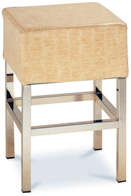Boxy low stool