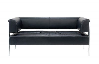 Sonala Black Leather Sofas