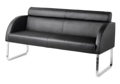 Razz Designer Black Faux Leather Sofas