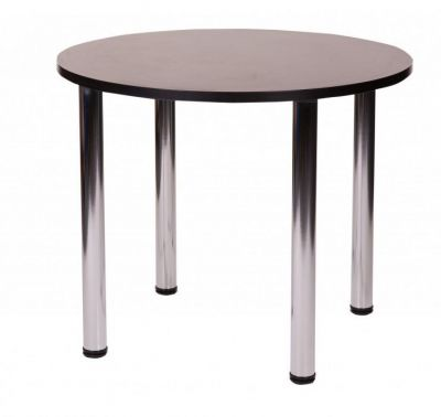 High-Quality-Cafe-Table-with-a-Thick-Top-and-Four-Chrome-Legs