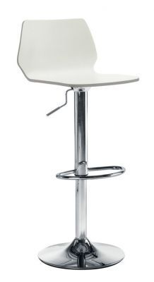 Stork Bar Stool With White High Gloss Lacquered Seat