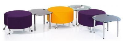 Breakout Area Stools And Joint Coffee Table