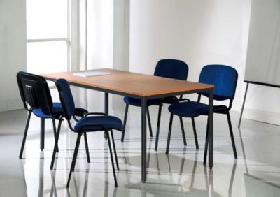 Value Wood Finish Metal Frame Conference Table