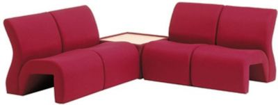 Upholstered Modular Recpetion Seating Upholstered Coffe Table
