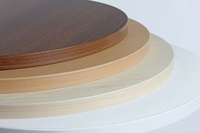 Round Wood Finish Value Cafe Table Top
