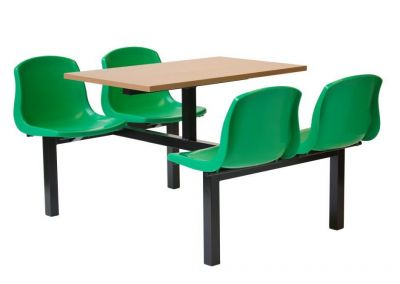 Green Seat Fast Food Unit With Laminate Table