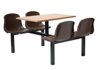 Value Fast Food Seating Unit With Table