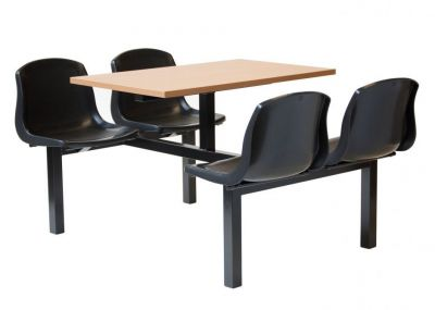 Value Four Plastic Seat Fast Food Unit With Table