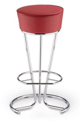 Cocktail Barstool Chrome Frame And Padded OSeat