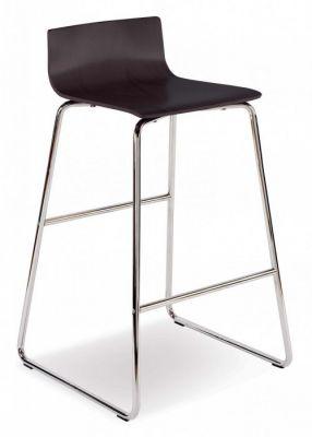 Modern Designer Stool With Chrome Sled Frame And Designer Slim Seat