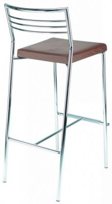Sleek Modern Design Bar Stool With Feature Back Padded Seat