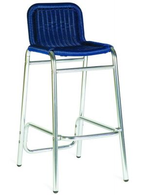 Blue Weave Outdoor Barstool