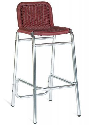 Weave Seat In Colour Outdoor Barstool