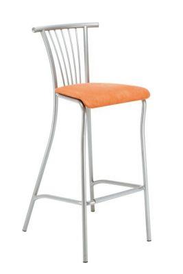 Sleek Design Bar Stool Chrome Or Silver Frame Upholstered Seat