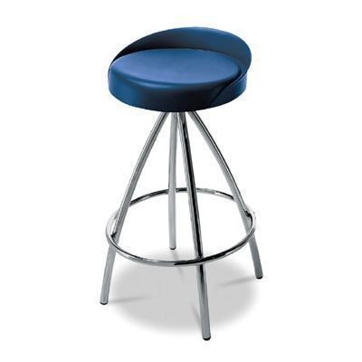 Trendy Barstool With Vinyl Upholstered Seat And Round Footrest