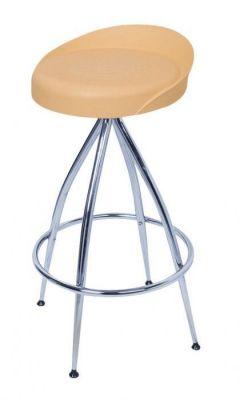 Trendy Four Leg Chrome Barstool