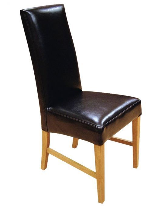 Leather dining chairs from the harlow range cafe reality for Genuine leather dining room chairs