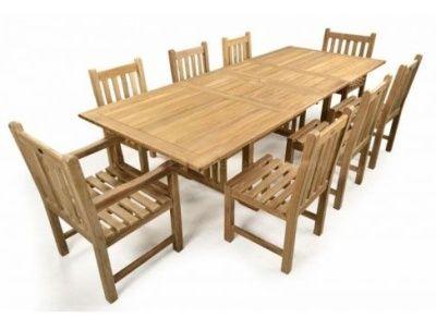 Brent 8 Seat Teak Outdoor Set Cafe Reality