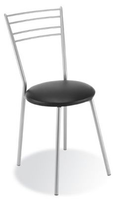 Rosso Metal Bistro Chair Black Seat
