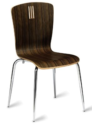 Pela Chair In A Zebrano Wenge Finish