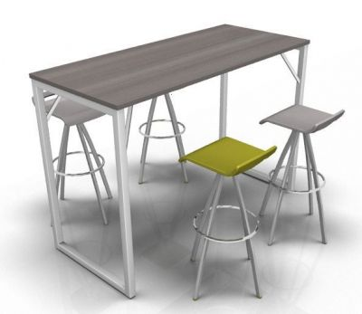 Avalon Loop Bar Height Table With An Anthracite Top