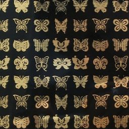 Fusing Decals - Glass Accents Butterflies - Gold
