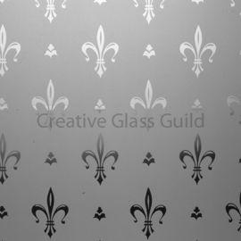 Etched Glass - Fleur De Lys