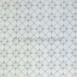 Etched Glass - Double Fleur