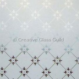 Etched Glass - Fleur