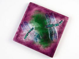 Dragonfly Tile Casting Mould - 6""
