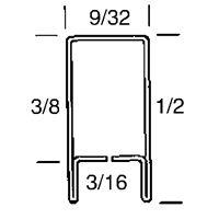 """Zinc Came 12mm (1/2"""") U Section 10 pack - delivered"""
