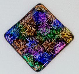Dichroic Extract - Red / Silver (1/8 Sheet equivalent)