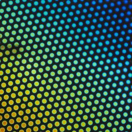 Rainbow Dots 2 on Thin Black - System 96 Dichroic