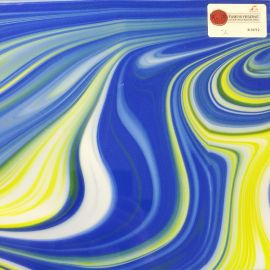 "Blue with white / Yellow Opal Art Fusers Reserve  12"" X 12"""