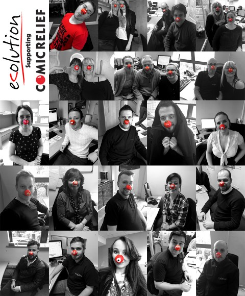 Ecolution supporting comic relief - collage