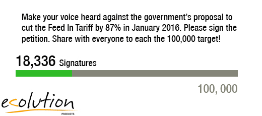 100,000 signature target to debate against government Feed In Tariff cut