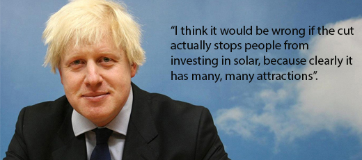 London Mayor concerned over government's proposal to cut Feed In Tariff