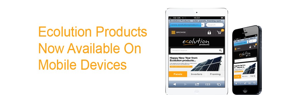 Ecolution Products now available on mobile devices